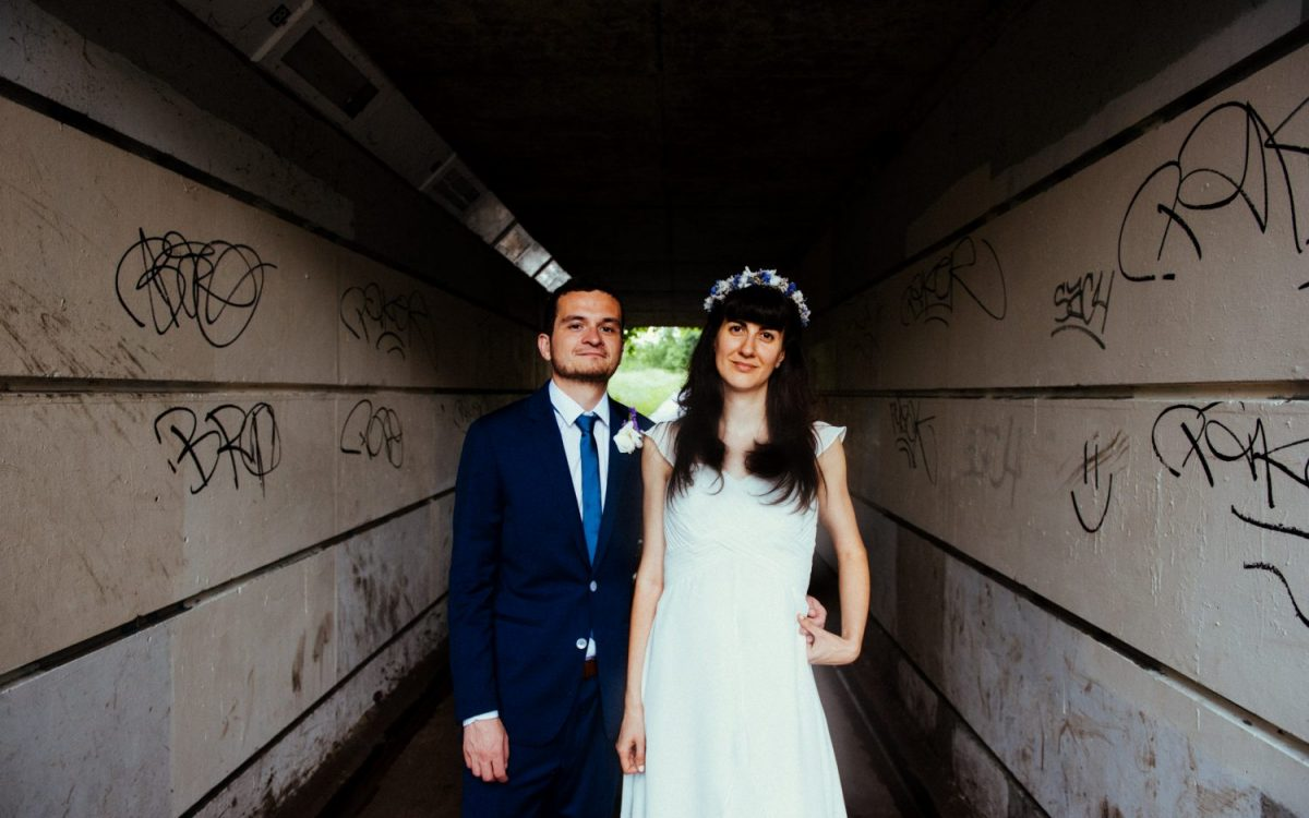 Super fun non-traditional Hackney house party wedding