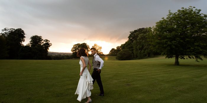 Maddy and Louka's elegant bird themed Sandon Hall wedding